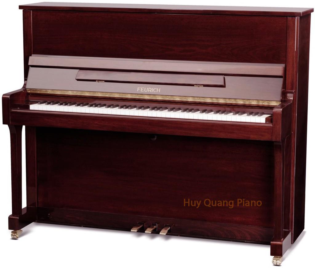 Feurich Piano Model 122 (Bordeaux Polished)